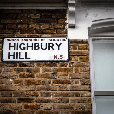 Nameboard of Arsenal highbury house
