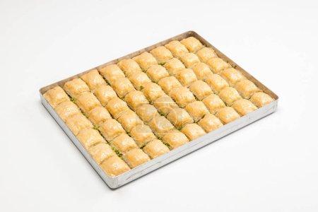 Photo pour Dessert traditionnel turc sur le fond - image libre de droit