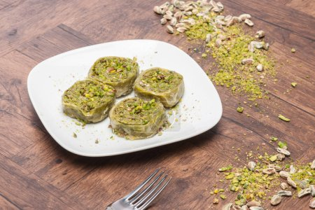 Photo for Turkish traditional dessert on background - Royalty Free Image