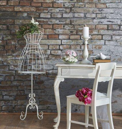 Photo pour Décor de mariage et table avec des bougies - image libre de droit