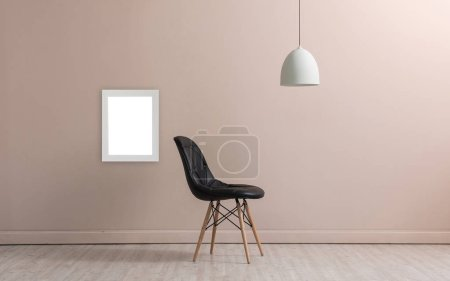 Photo for Wall and  concept interior room, decoration lamp and chair object - Royalty Free Image