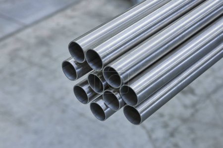 Photo for Metal steel profile and pipes . Industry production - Royalty Free Image