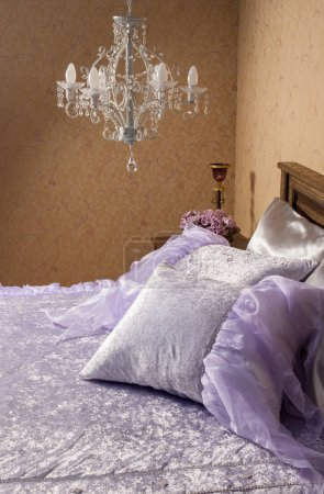Photo for Linens set bed room style. - Royalty Free Image