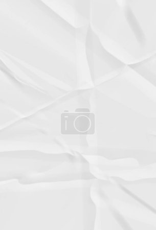 Photo pour Papier émietté, motif de feuille blanche ridée - image libre de droit
