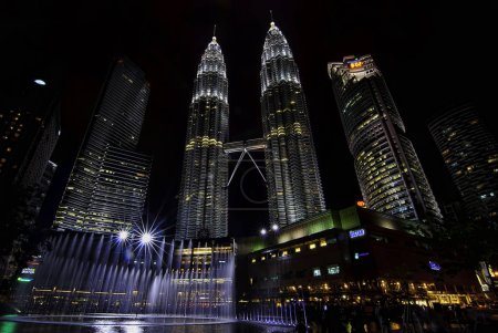 Photo for Night shot of the petronas tower - Royalty Free Image