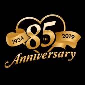 85th Anniversary Symbol with golden ribbon