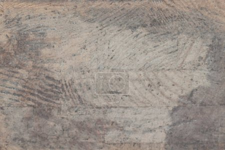 Photo for Natural knotted gray wood plank texture and surface. Weathered wood rustic backgrouns - Royalty Free Image