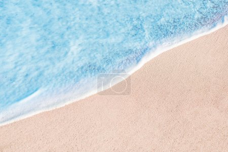 Photo for Beach, sand and blue ocean. Summer Background. Copy space - Royalty Free Image