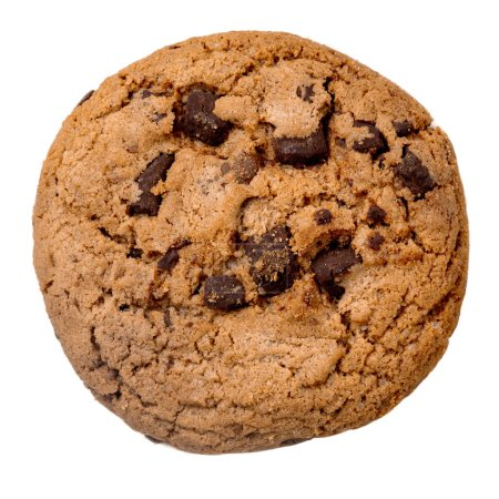 Photo for Chocolate chip cookie   isolated on white background.  Close-up - Royalty Free Image