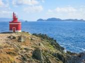 Punta Robaleira lighthouse near Cangas, Pontevedra, Galicia