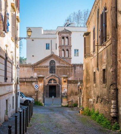Santa Maria in Cappella Church in Trastevere in Rome, Italy.