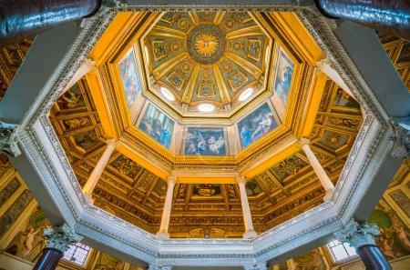 Lateran Baptistery (San Giovanni in Fonte) near the Basilica of Saint John in Rome, italy. November-21-2017