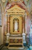 Side chapel in Santa Cecilia in Trastevere Church in Rome, Italy. January-