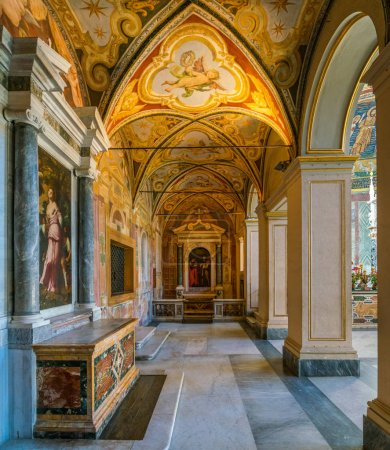 Photo for Side chapel in Santa Cecilia in Trastevere Church in Rome, Italy. January- - Royalty Free Image