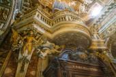 "Постер, картина, фотообои ""The amazing decorations in Church of Santa Maria della Vittoria in Rome, Italy. December-12-2017"""