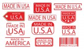 made in america label banner vector set 01