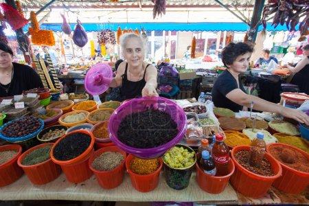 Foto de People and street market with food in Georgia - Imagen libre de derechos