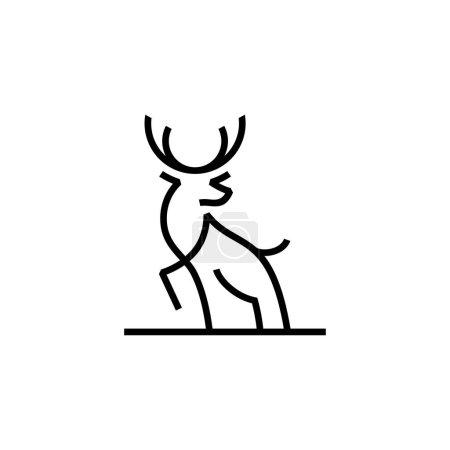 Illustration pour Ligne de cerf contour monoline logo inspirations design - image libre de droit