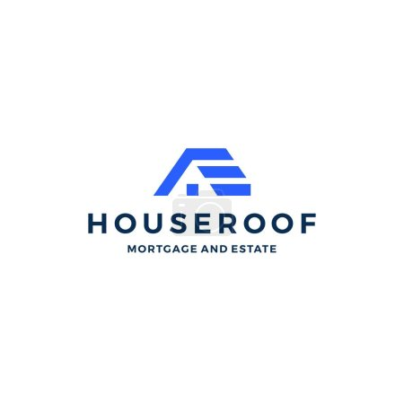 Illustration for Home house logo vector icon - Royalty Free Image