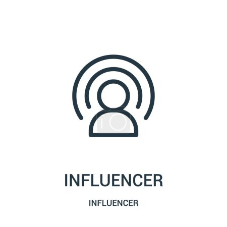 Influencer icon vector from influencer collection. Thin line influencer outline icon vector illustration. Linear symbol for use on web and mobile apps, logo, print media.