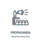 propaganda icon vector from industrial revolution collection Thin line propaganda outline icon vector illustration