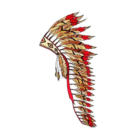 Photo for Indian Tribal Warbonnet Pattern - Royalty Free Image