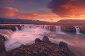 Famous Godafoss waterfall on north Iceland