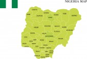 Nigeria map vector illustration