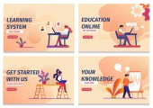 Learning System Start Online Education Knowledge