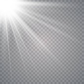 Vector transparent sunlight special lens