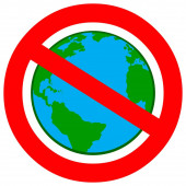 Globalism Ban - A cartoon illustration of a Globalism Ban