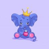 elephant calf embarrassed sticker emoticon