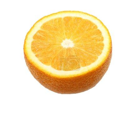 Photo pour Tranche d'orange fruit isolé sur fond blanc - image libre de droit