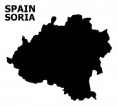 Vector Flat Map of Soria Province with Name