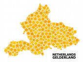 Golden Rotated Square Pattern Map of Gelderland Province