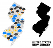 Weather Mosaic Map of New Jersey State