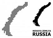 Dot Mosaic Map of Novaya Zemlya Islands