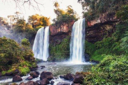 Two Sisters waterfalls Salto Dos Hermanas iguazu n...
