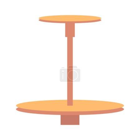 Illustration pour Instrument de roue de potier, motif d'outil coloré, illustration vectorielle avec outil de potier isolé sur fond blanc argile modélisation disposition de l'instrument - image libre de droit