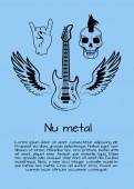 Nu Metal Music Poster Vector Illustration