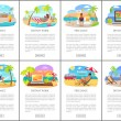 Freelance and distant work during summer posters. ...
