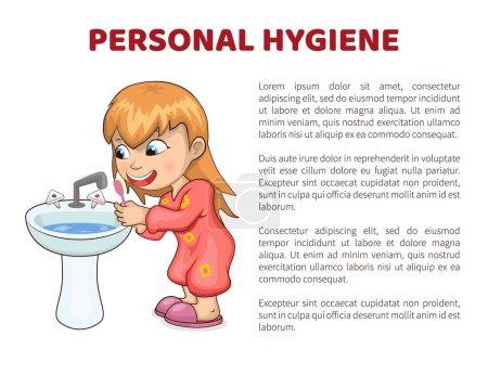 Hygiène personnelle vectoriel Illustration Affiche Fille