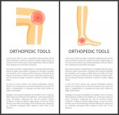 Orthopedic Tools Posters Text Vector Illustration
