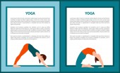 Yoga Vector Illustration Woman in Various Poses