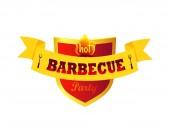 Hot Barbecue Party Closeup Vector Illustration