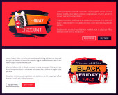 Black Friday Sale Off Promo Stickers Advertisings