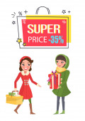 Super Price Thirty Five Percent Reduction Off