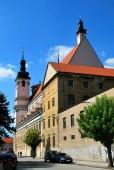 Trnava, Slovakia - September 09, 2018: the St. John the Baptist cathedral in Trnava Old Town