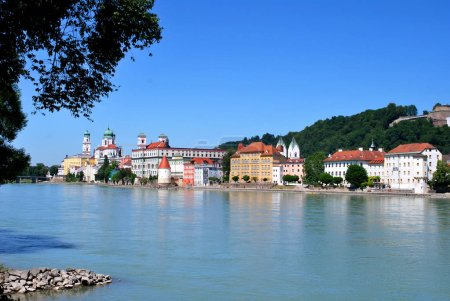 Photo for Passau, Bavaria, Germany - June 09, 2014: The view of the historical center of Passau - Royalty Free Image
