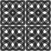 """Постер, картина, фотообои """"бесшовный монохромный дизайн геометрический рисунок"""""""